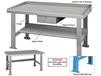 STEEL TOP INDUSTRIAL WORK BENCHES - SIDE & BACK STOPS